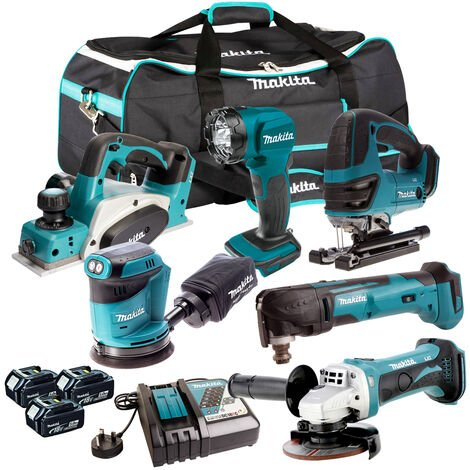 Makita DLX6075PT 6 Piece Power Tool Kit 18V LXT