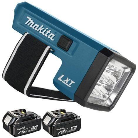 Makita DML186Z 18V Li-ion LED Flashlight Torch with 2 x 5.0Ah BL1850 Batteries:18V