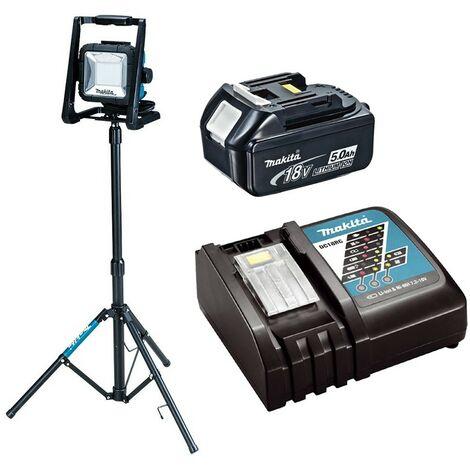 Makita DML805 18v 110v LXT LED Work Light Site Light + Tripod + 5AH Battery