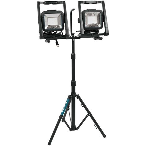Makita DML805 18v 110v LXT LED Work Light Site Light Twin Pack + Tripod Stand