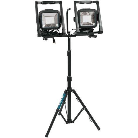 Makita DML805 18v 240v LXT LED Work Light Site Light Twin Pack + Tripod Stand