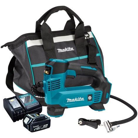 "main image of ""Makita DMP180Z 18V Inflator Pump with 1 x 5.0Ah Battery Charger & Tool Bag"""