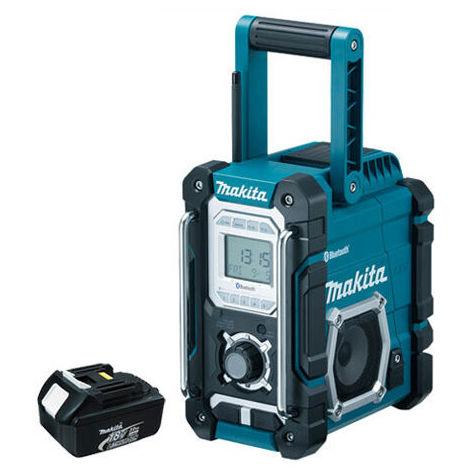 "main image of ""Makita DMR106 Bluetooth Jobsite Radio USB Charging With 3.0Ah Battery"""