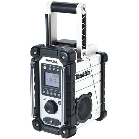 Makita DMR107W 10.08-18V LXT / CXT AM/FM Job Site White Radio Body:18V