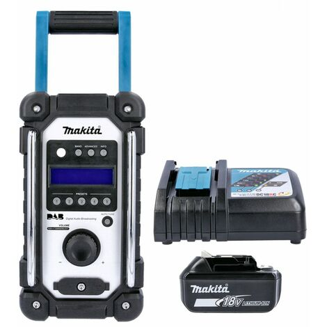Makita DMR109 10.8V-18v LXT/CXT DAB Job Site Radio With 1 x 3.0Ah Battery & Charger