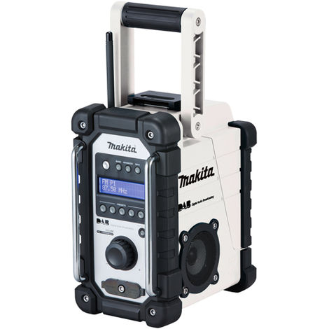 Makita DMR109W 10.8-18V LXT/CXT Li-ion DAB Job Site Radio White Body Only