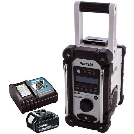 Makita DMR109W DAB 10.8v-18v Job Site Radio + 1x4Ah Battery & Charger:18V