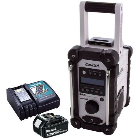 Makita DMR109W DAB 10.8v-18v LXT/CXT Job Site Radio with 1 x 3.0Ah Battery & Charger:18V