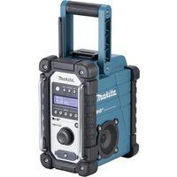 Makita DMR110 DAB+ Radio da cantiere DAB+, FM, AUX antispruzzo Nero, Turchese