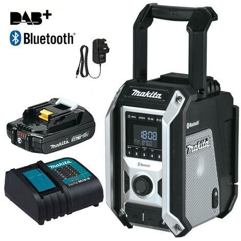 Makita DMR115 Black Digital DAB Site Radio DAB+ + Bluetooth Charger +2ah Battery
