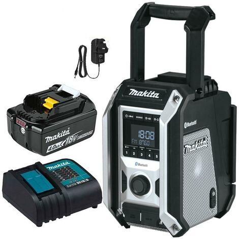 Makita DMR115 Black Digital DAB Site Radio DAB+ + Bluetooth Charger +4ah Battery