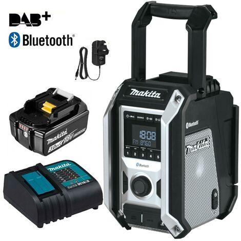 Makita DMR115 Black Digital DAB Site Radio DAB+ + Bluetooth + Charger + Battery