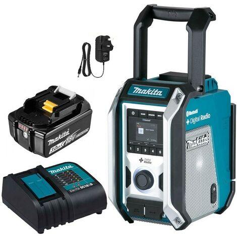 Makita DMR115 Digital DAB Site Radio DAB+ + Bluetooth +Charger + 18v 3ah Battery