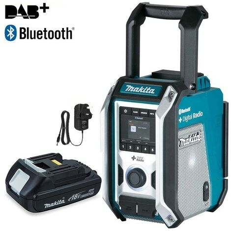 Makita DMR115 Digital DAB Site Radio DAB + Bluetooth USB Charger +18v Battery