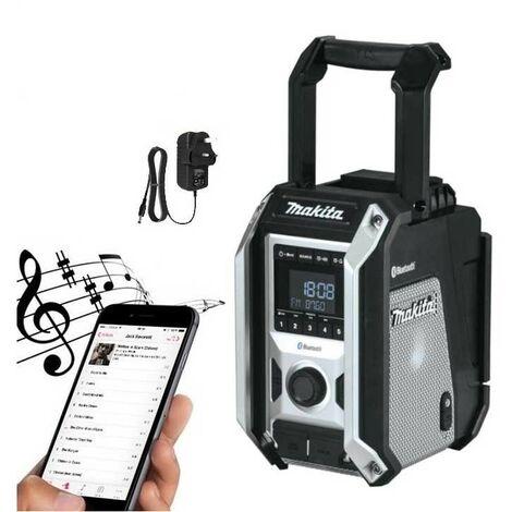 """main image of """"Makita DMR115B Black Digital DAB Site Radio DAB + Bluetooth USB Charger 18v LXT"""""""