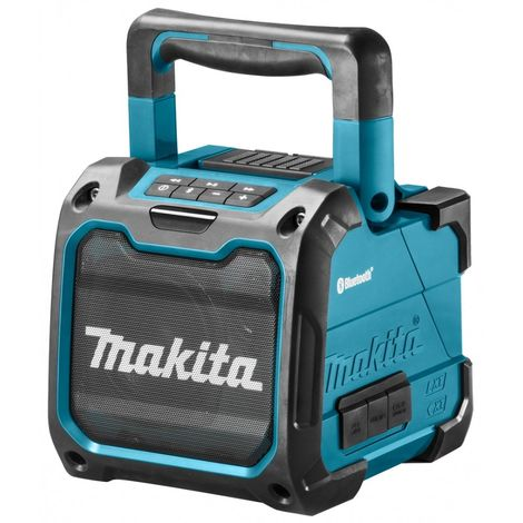 Makita DMR200 Enceinte à batteries 10,8V - 14,4V - 18V Li-Ion Bluetooth (machine seule) - batteries glissières