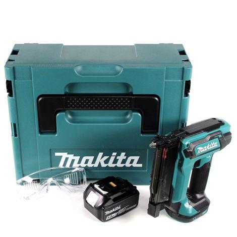 Makita DPT 353 T1J 18 V Li-Ion Cloueur sans fil en coffret Makpac + 1x Batterie 5,0 Ah - sans Chargeur