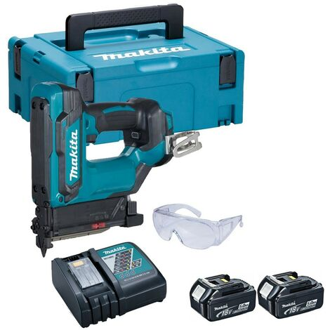 Makita DPT353RTJ 18V Li-ion LXT Cordless Pin Nailer 23 Gauge x2 5ah Charger Case
