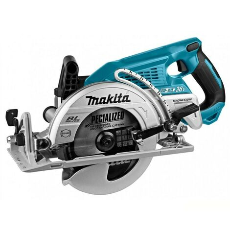 Makita DRS780Z Twin 18V LXT Brushless Rear Handle Circular Saw 185mm Body Only