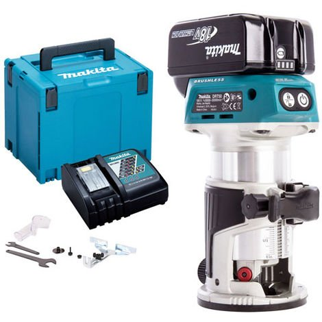 Makita DRT50ZJ 18V LXT Brushless Router with 1 x 4.0Ah Battery & Charger in Case