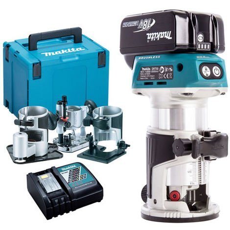 Makita DRT50ZJX3 18V LXT Brushless Router with 1 x 4.0Ah Battery & Charger in Case