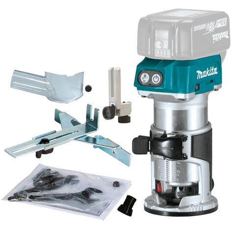 Makita DRT50ZX4 18V LXT Li-ion Brushless Router Trimmer with Trimmer Guide