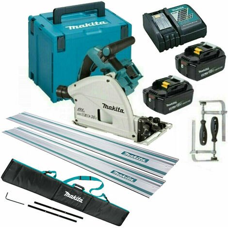 """main image of """"Makita DSP600TJ 36V Brushless Plunge Saw Set 2 x 5.0Ah Batteries & Accessories"""""""