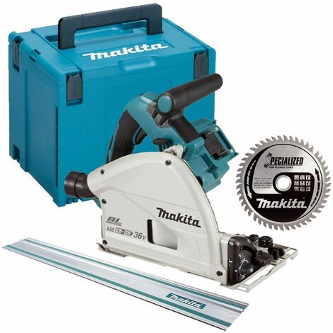 Makita DSP600ZJ 36V 165mm Plunge Saw + 1.5m Guide Rail + Case + Blade
