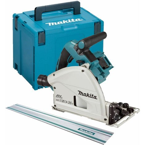 Makita DSP600ZJ Twin 18V LXT Brushless 165mm Plunge Saw + Guide Rail