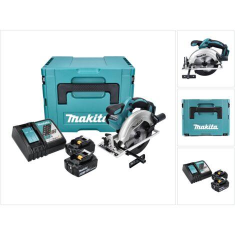 Makita DSS 611 RTJ Sierra circular a batería 18V 165 mm en maletín Makpac 4 + 2x Batería BL 1850 5,0 Ah + Cargador DC 18 RC
