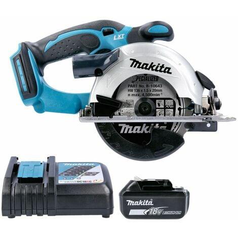 Makita DSS501 18V LXT Li-Ion 136mm Circular Saw With 1 x 5.0Ah Battery & Charger