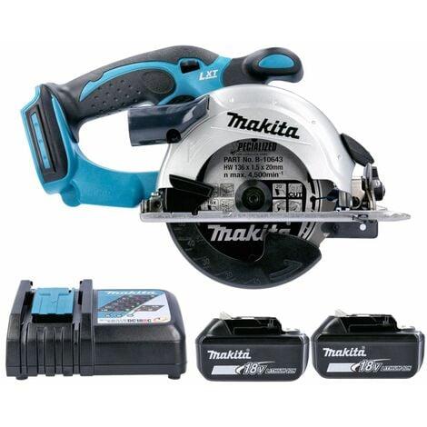 Makita DSS501 18V LXT Li-Ion 136mm Circular Saw With 2 x 5.0Ah Batteries & Charger