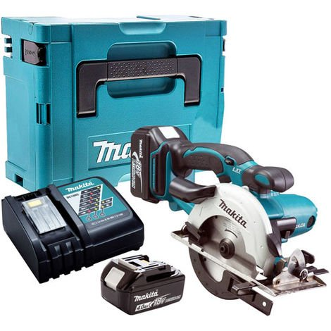 Makita DSS501Z 18V Circular Saw with 2 x 4.0Ah Battery & Charger in Case:18V
