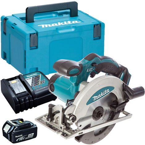 Makita DSS610Z 18V 165mm Circular Saw with 1 x 5.0Ah Battery & Charger in Case:18V