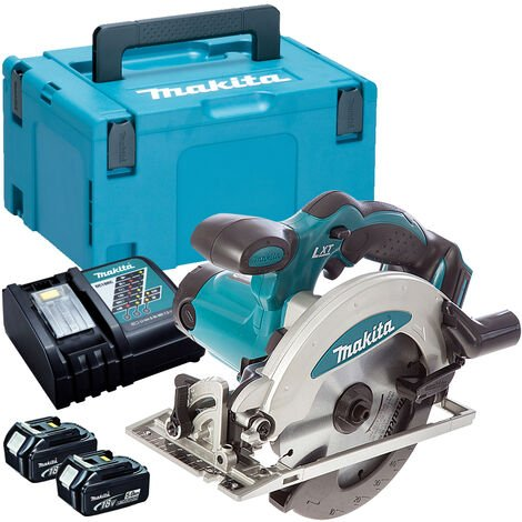 Makita DSS610Z 18V 165mm Circular Saw with 2 x 5.0Ah Batteries & Charger in Case:18V