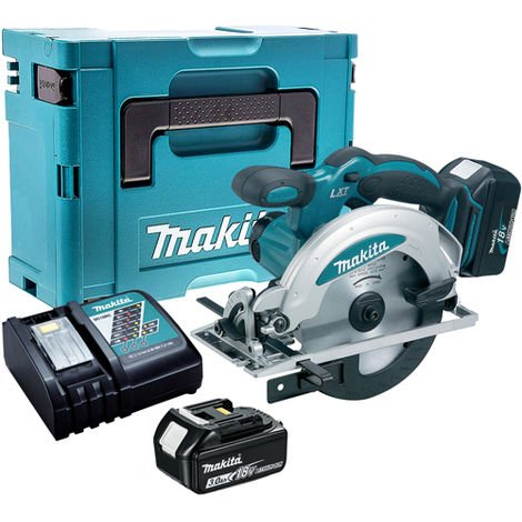 Makita DSS610Z 18V Circular Saw with 2 x 3.0Ah Battery & Charger in Case:18V