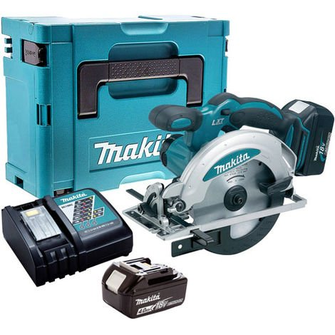 Makita DSS610Z 18V Circular Saw with 2 x 4.0Ah Battery & Charger in Case:18V