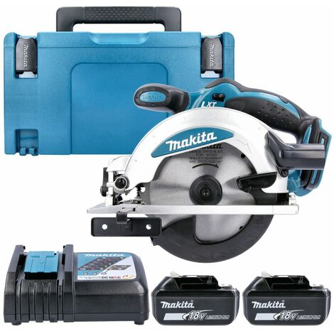 Makita DSS610Z 18V Circular Saw With 2 x 5.0Ah Batteries, Charger & Type 3 Case