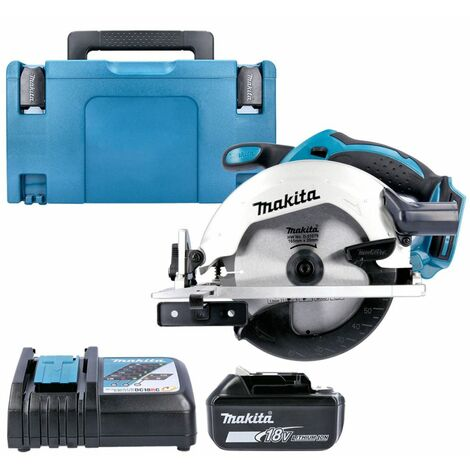 Makita DSS611 18V LXT Circular Saw With 1 x 5.0Ah Battery, Charger, Case & Inlay