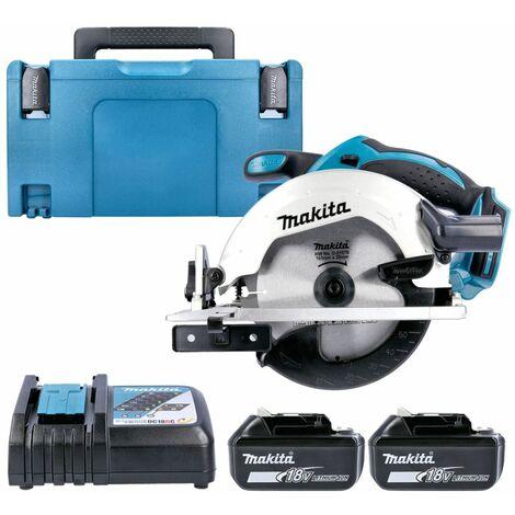 Makita DSS611 18V LXT Circular Saw With 2 x 5.0Ah Batteries, Charger, Case & Inlay