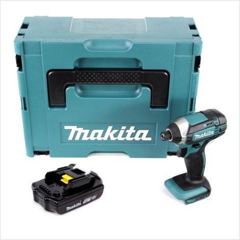 Makita DTD 152 Y1J 18V Li-Ion Visseuse à chocs sans fil avec boîtier Makpac + 1x Batterie BL 1815 N 1,5 Ah Li-Ion - sans Chargeur