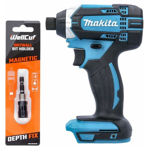 "Makita DTD152 18V Impact Driver With Drywall 1/4"" Portable Magnetic Bit Holder"