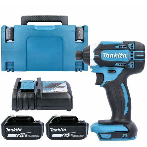 Makita DTD152Z 18V Impact Driver with 2 x 4.0Ah Batteries, Charger, Case & Inlay