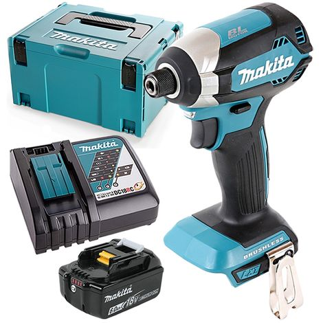 Makita DTD153 18V Brushless Impact Driver With 1 x 6.0Ah Battery, Charger & Case