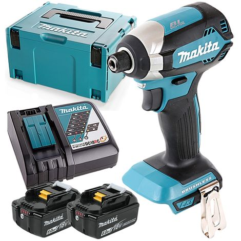 Makita DTD153 18V Brushless Impact Driver With 2 x 6.0Ah Batteries, Charger & Case