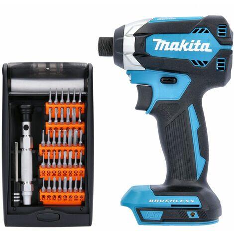 Makita DTD153 18V Impact Driver With 38 Pcs Multi-Purpose Screwdriver Bits Set