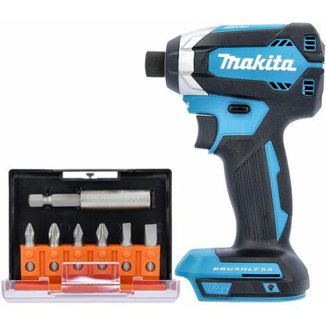 Makita DTD153 18V Impact Driver With 7 Pcs 25mm Long Screwdriver Bits Set