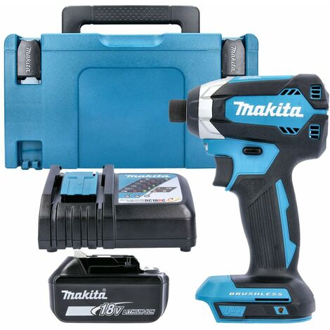 Makita DTD153Z 18V Brushless Impact Driver Gen 2 With 1 x 5Ah Battery, Charger, Case & Inlay