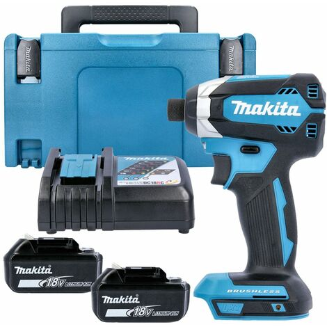 Makita DTD153Z 18V Brushless Impact Driver Gen 2 With 2 x 5Ah Batteries, Charger, Case & Inlay
