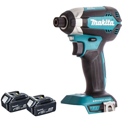 "main image of ""Makita DTD153Z 18V Brushless Impact Driver With 2 x 5.0Ah Batteries:18V"""
